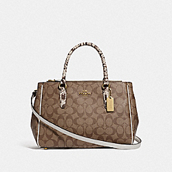 COACH F44959 Surrey Carryall In Signature Canvas KHAKI MULTI /IMITATION GOLD
