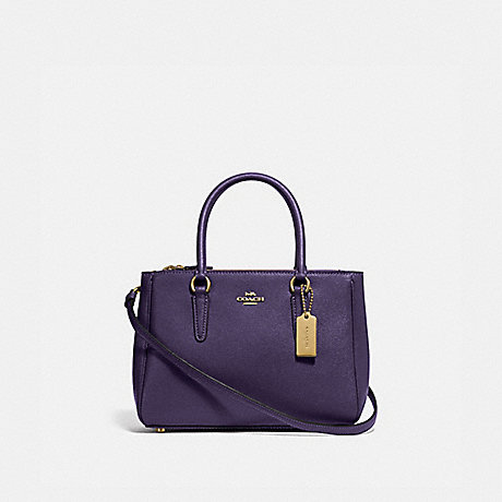 COACH F44962 MINI SURREY CARRYALL DARK PURPLE/IMITATION GOLD