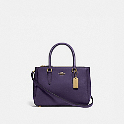 MINI SURREY CARRYALL - F44962 - DARK PURPLE/IMITATION GOLD