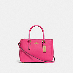 COACH F44962 - MINI SURREY CARRYALL PINK RUBY/GOLD