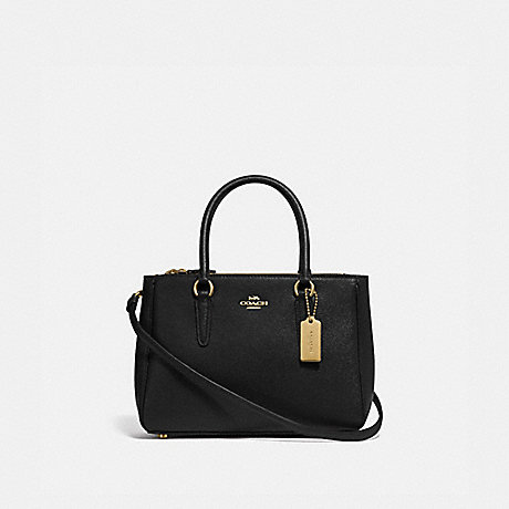 COACH F44962 MINI SURREY CARRYALL BLACK/IMITATION GOLD