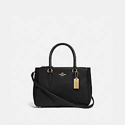 MINI SURREY CARRYALL - F44962 - BLACK/IMITATION GOLD