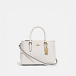 MINI SURREY CARRYALL - F44962 - CHALK/IMITATION GOLD