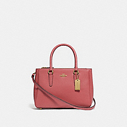 COACH F44962 - MINI SURREY CARRYALL ROSE PETAL/IMITATION GOLD