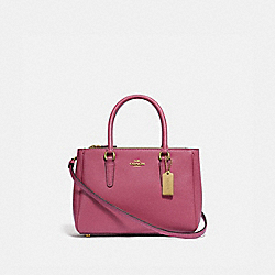 MINI SURREY CARRYALL - F44962 - STRAWBERRY/LIGHT GOLD