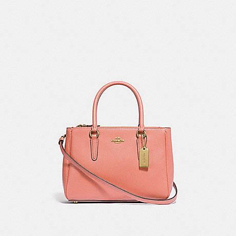 COACH F44962 MINI SURREY CARRYALL LIGHT CORAL/GOLD