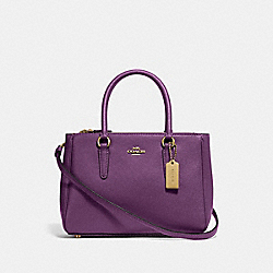 COACH F44962 - MINI SURREY CARRYALL GOLD/BLACKBERRY