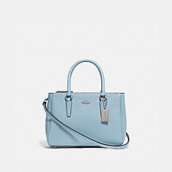 MINI SURREY CARRYALL - F44962 - CORNFLOWER/SILVER