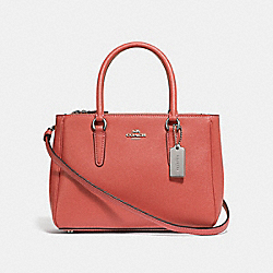 MINI SURREY CARRYALL - F44962 - CORAL/SILVER