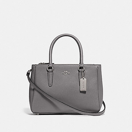 COACH F44962 MINI SURREY CARRYALL HEATHER GREY/SILVER
