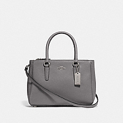 COACH F44962 - MINI SURREY CARRYALL HEATHER GREY/SILVER