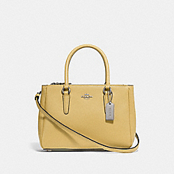 COACH F44962 Mini Surrey Carryall LIGHT YELLOW/SILVER