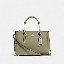 COACH F44962 Mini Surrey Carryall LIGHT CLOVER/SILVER