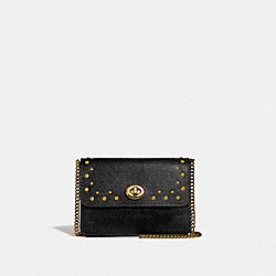 COACH F44964 - BOWERY CROSSBODY WITH STUDS BLACK/IMITATION GOLD