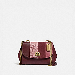 FAYE CROSSBODY - F45314 - WINE MULTI/LIGHT GOLD