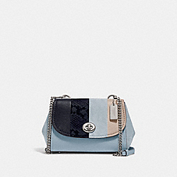 FAYE CROSSBODY - F45314 - CORNFLOWER MULTI/SILVER