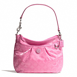 COACH JULIA NYLON TOP HANDLE POUCH - SILVER/PINK 2 - F45382