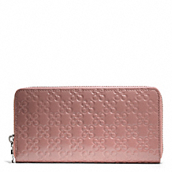 COACH F45837 Chelsea Embossed Patent Accordion Zip Wallet SILVER/TEAROSE 2