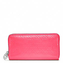 COACH F45837 Chelsea Embossed Patent Accordion Zip