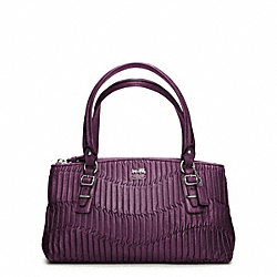 COACH F45928 Madison Gathered Leather Small Bag SILVER/AUBERGINE
