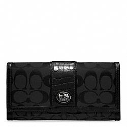 COACH F45965 Sutton Signature Slim Envelope SILVER/BLACK/BLACK 3