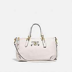 ALLY SATCHEL - F46246 - CHALK/LIGHT GOLD