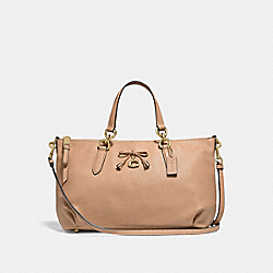 COACH F46246 Ally Satchel BEECHWOOD/LIGHT GOLD