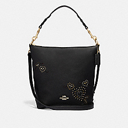 COACH F46287 - ABBY DUFFLE WITH HEART BANDANA RIVETS BLACK/MULTI/IMITATION GOLD