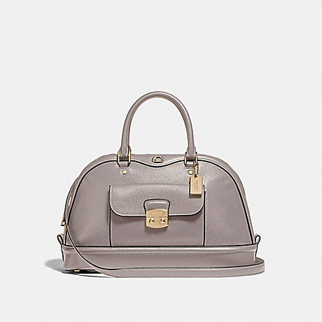 COACH F46289 EAST/WEST IVIE DOME SATCHEL GREY-BIRCH/LIGHT-GOLD