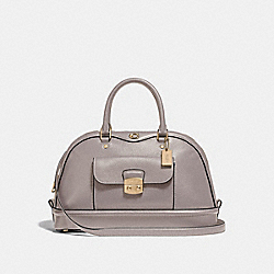 EAST/WEST IVIE DOME SATCHEL - F46289 - GREY BIRCH/LIGHT GOLD