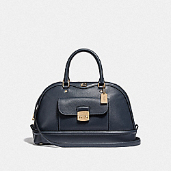 EAST/WEST IVIE DOME SATCHEL - F46289 - MIDNIGHT/LIGHT GOLD