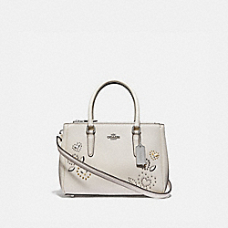 COACH F46292 Mini Surrey Carryall With Heart Bandana Rivets CHALK MULTI/SILVER