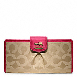 COACH F46636 Madison Op Art Sateen Skinny Wallet