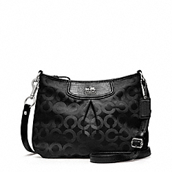 COACH F46642 - MADISON OP ART SATEEN FASHION SWINGPACK SILVER/BLACK/BLACK LIZARD