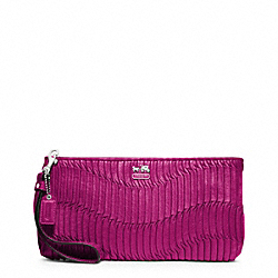 MADISON GATHERED LEATHER ZIP CLUTCH - f46914 - 31887