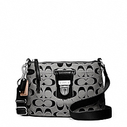 COACH F47018 - POPPY SIGNATURE METALLIC SWINGPACK ONE-COLOR