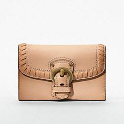 COACH F47042 Poppy Leather Whip Stitch Medium Wallet