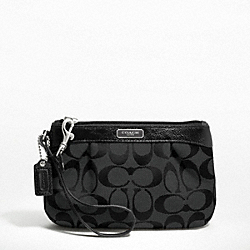 COACH F47206 Signature Pleated Medium Wristlet