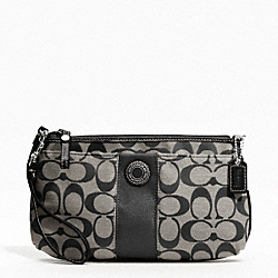 COACH F47706 Signature Stripe Large Wristlet