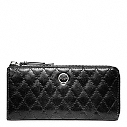 COACH F47882 Poppy Quilted Leather Slim Zip