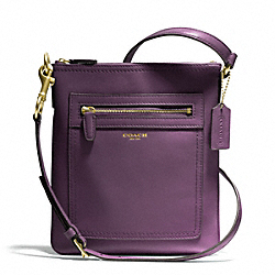 LEATHER SWINGPACK - f47989 - BRASS/BLACK VIOLET