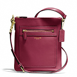 COACH F47989 - LEATHER SWINGPACK BRASS/DEEP PORT