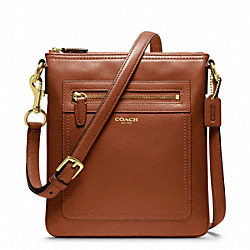 COACH F47989 - LEATHER SWINGPACK BRASS/COGNAC