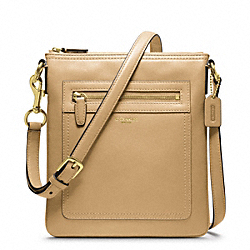LEATHER SWINGPACK - f47989 - BRASS/SAND