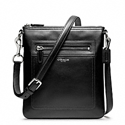 LEATHER SWINGPACK - f47989 - SILVER/BLACK