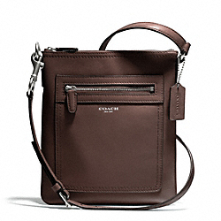 LEATHER SWINGPACK - f47989 - SILVER/MIDNIGHT OAK