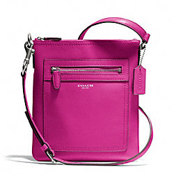 COACH F47989 - LEATHER SWINGPACK SILVER/BRIGHT MAGENTA