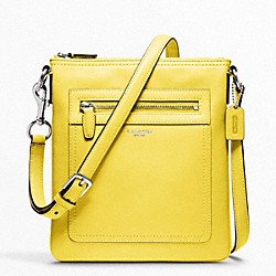 LEATHER SWINGPACK - f47989 - SILVER/LEMON