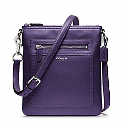 COACH F47989 - LEATHER SWINGPACK SILVER/MARINE