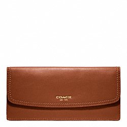 COACH F47990 Soft Wallet In Leather BRASS/COGNAC
